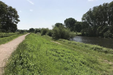 Flood embankments which are due to be upgraded in Burton-upon-Trent.