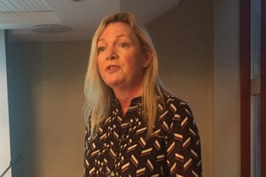 Jane Goddard of the Energy Saving Trust speaking at the Green Data conference in London on 27 November 2018.