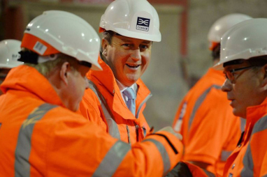 """David Cameron at Crossrail - infrastructure """"foundation"""" for economy"""