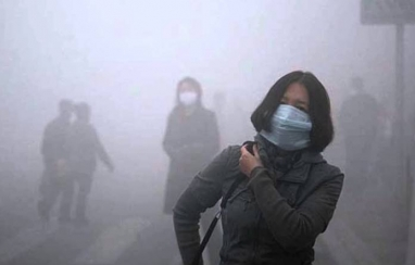 Pollution in Beijing.