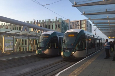 The 6.02; Nottingham Tram extension starts operation