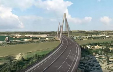 Image of a bridge on what would have been the £1.6bn M4 relief road.