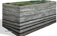 A typical fracking well sits 3000m below ground level
