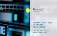 Foresight white paper reveals significant differences in pandemic resilience across infrastructure sub-sectors.