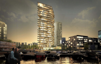 The 'HAUT' timber residential tower in Amsterdam, the tallest timber hybrid tower in the Netherlands.
