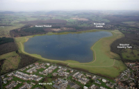 CGI of the proposed Havant Thicket reservoir in Hampshire.