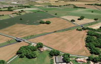 CGI of the proposed Hereford bypass, currently put on hold by Herefordshire Council.