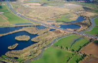 Ariel view of the completed A14 Cambridge to Huntingdon.