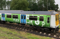 Teesside set to become UK's first hydrogen transport hub, and trials of hydroFLEX train begin in the midlands. (Photo by University of Birmingham).