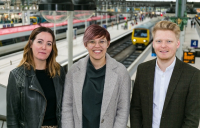 Pictured left to right are Bethan Williams, head of sales and Marketing at Impact, Sarah Borien, Network Rail sustainability strategy manager and Chris Farrell, Impact managing director.