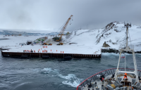 The new wharf at the British Antarctic Survey's Rothera Research Station.