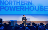 George Osborne pictured when he launched the Northern Powerhouse as chancellor.