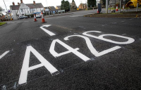 Resurfacing of A426 using Tarmac rubberised asphalt incorporates rubber from 3,300 waste car tyres.