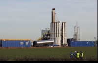 A Cuadrilla test fracking site in Lancashire.