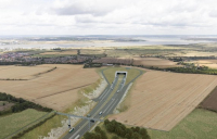 How the southern portal of the Lower Thames Crossing, in Kent, will look.