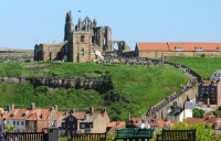 Whitby Abbey is reached by 199 steps, which take visitors up from the town.