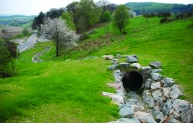 The Rothes scheme incorporates many environmental enhancements, such as this badger bridge