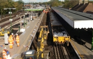 A huge amount of track replacement was completed during a 'blockade' of the Hainault loop of the Central line in 2012.