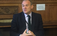 Former environment secretary Sir Ed Davey speaking at the EIC Political Summit.