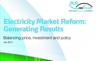 ACE energy report July 2014