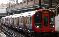 Metropolitan Line train, soon to be travelling from Watford to Aldgate