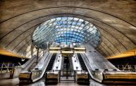 Canary Wharf tube station.