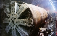 On of the TBMs used to construct the Channel Tunnel